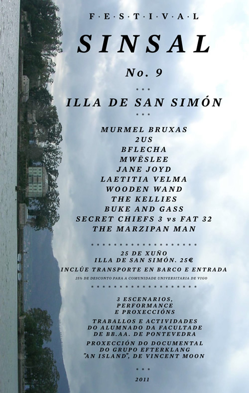 Cartel Sinsal San Simón 2011