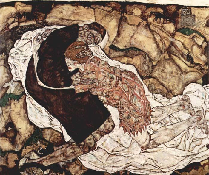 A morte e a doncela. Egon Schiele, 1915.