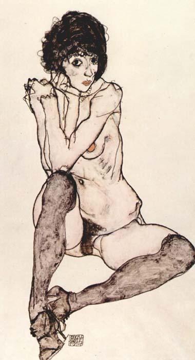 Espido femenino sentado. Egon Schiele, 1914