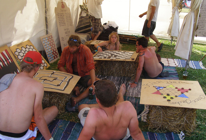 Xogos de mesa no Sziget 2011