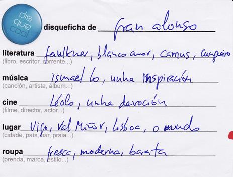 Disqueficha Fran Alonso