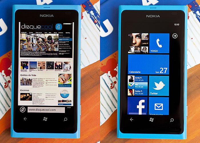 Nokia Lumia 800 análise do WP7 de Nokia