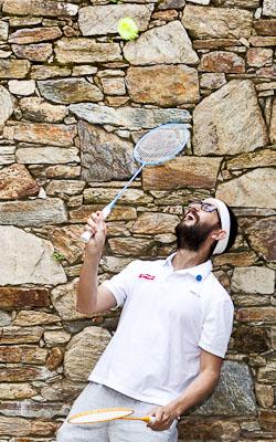 hipsters deporte badminton