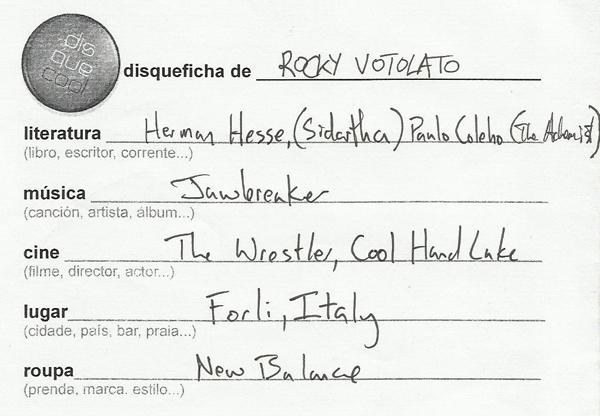 Disqueficha Rocky Votolato