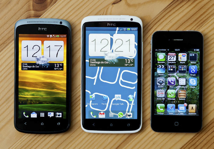 O HTC One X entre o One S e o iPhone.