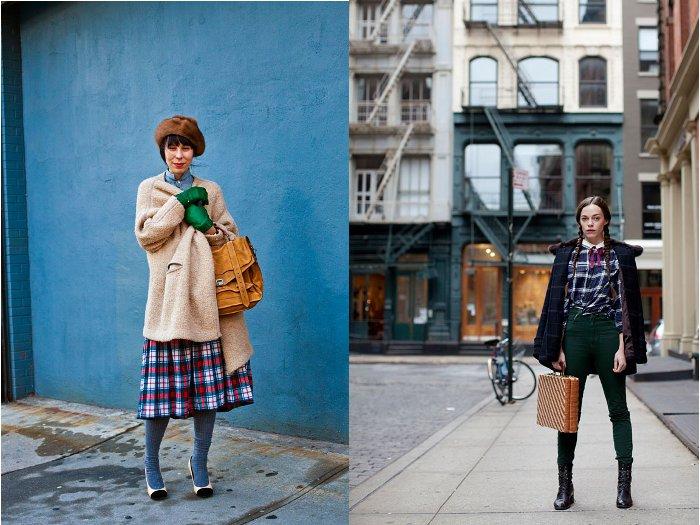 Dúas imaxes de Scott Schuman