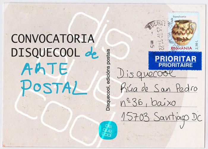 Convocatoria Disquecool Arte Postal