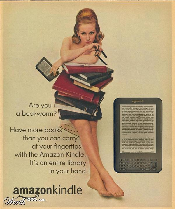 Anuncio retro kindle