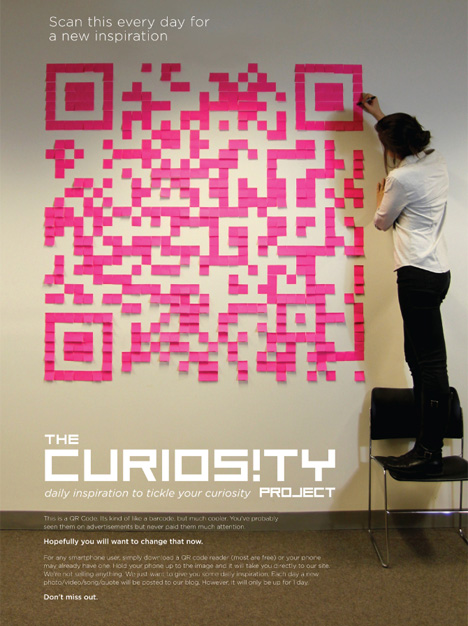 The Curiosity Project - QR con Post-it