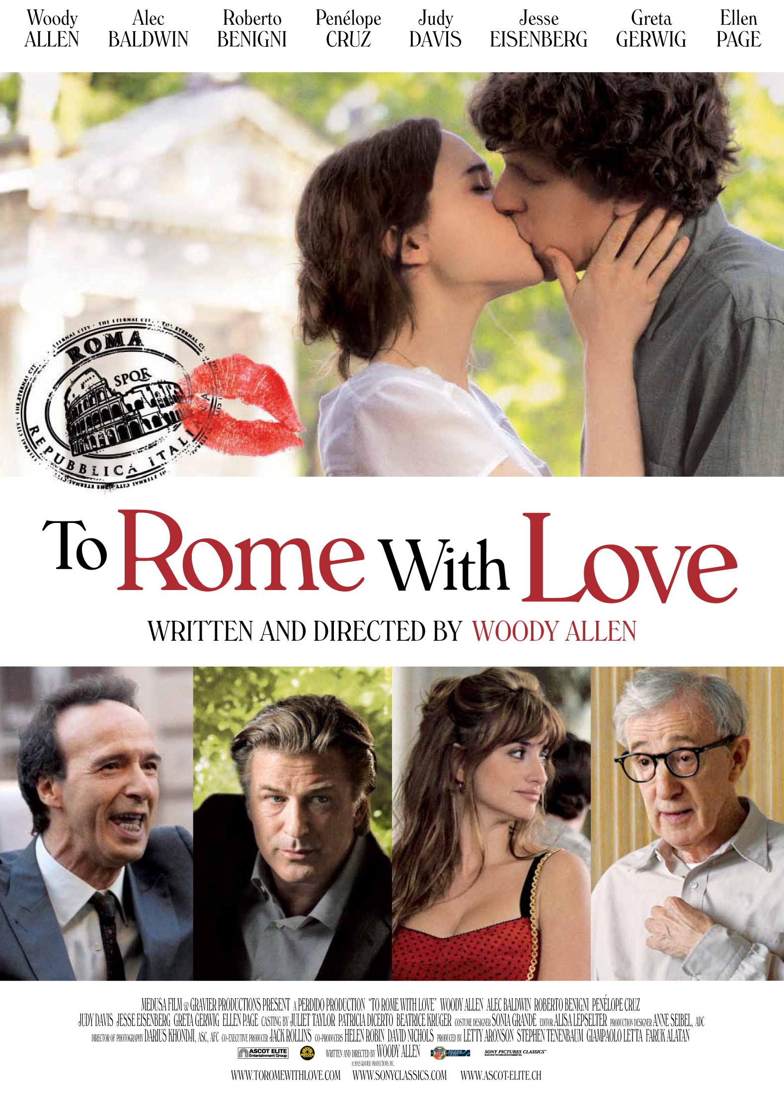 Baños Roma Obra Teatro:To Rome with Love Movie Poster 2012
