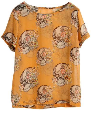 Camiseta de caveiras