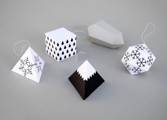 decoracións de Nadal xeométricas