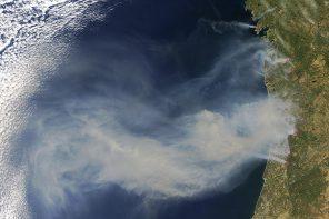 Así se ven os incendios de Galicia e Portugal desde o espazo