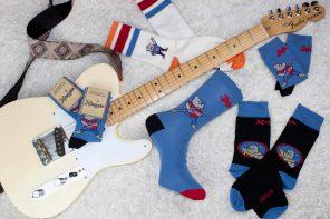 Calcetíns do Xabarín Club, merchandising nostálxico para levar nos pés