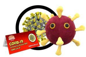 O boneco de peluche do coronavirus xa existe
